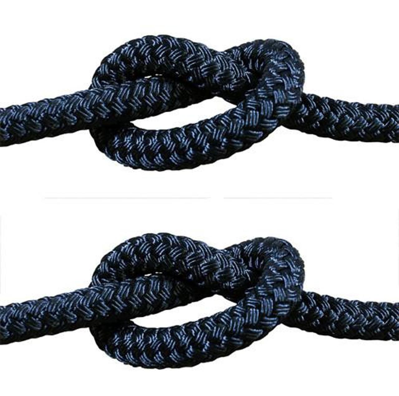 Rope - Double Braid Black 8mm x 1metre