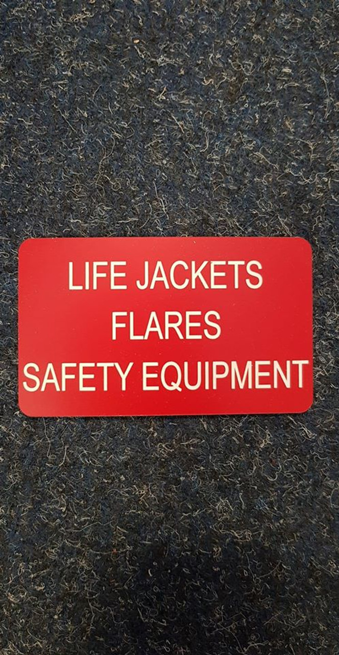 'Life Jackets, Flares, Safety Equipment'