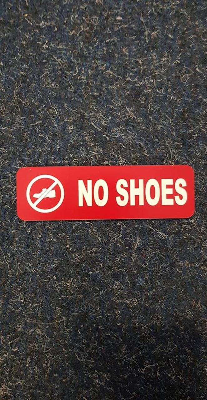 Label 'No Shoes'