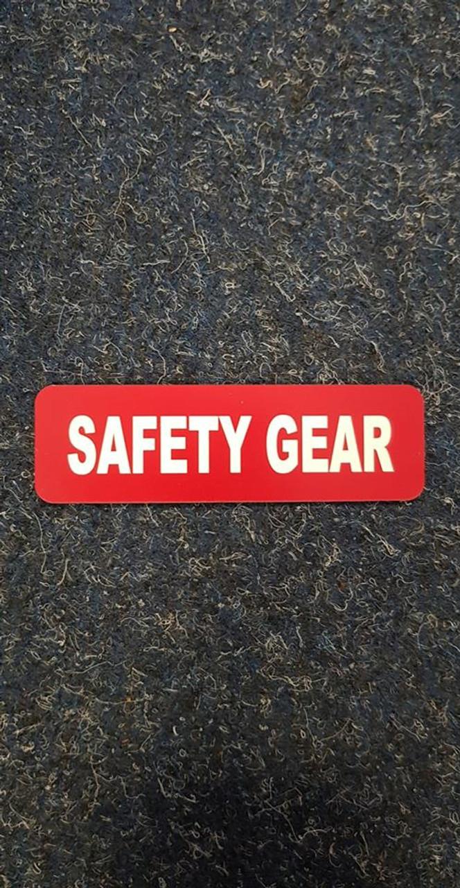 Label 'Safety Gear'