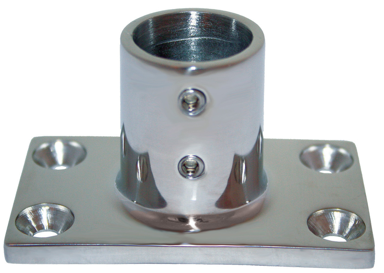Base - Stainless Steel 90 Degree Rectangle 22mm