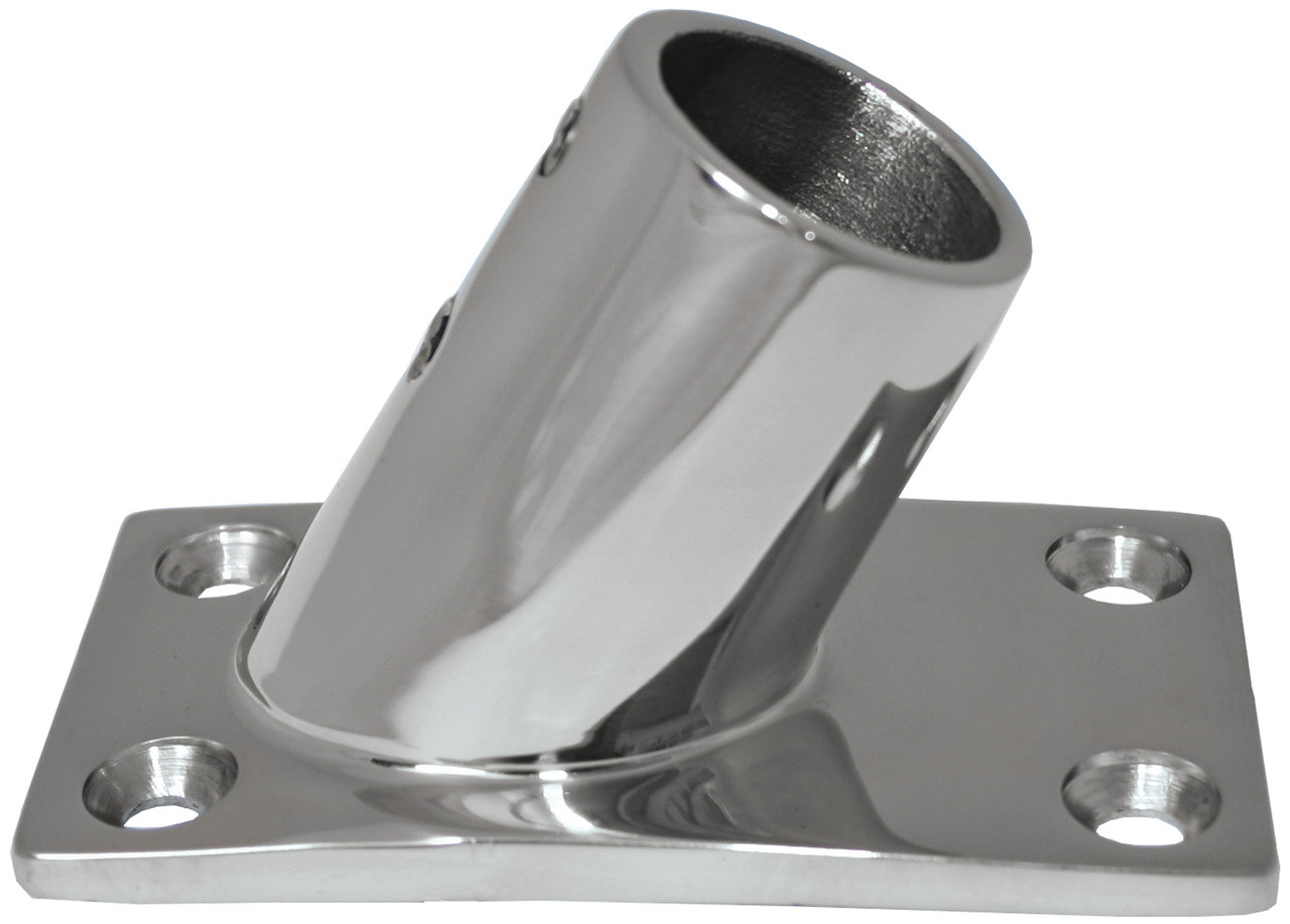 Base - Stainless Steel 60 Degree Rectangle 22mm