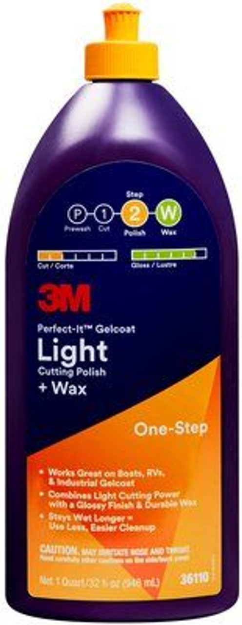 3M Light Cutting Polish and Wax 1.1litre