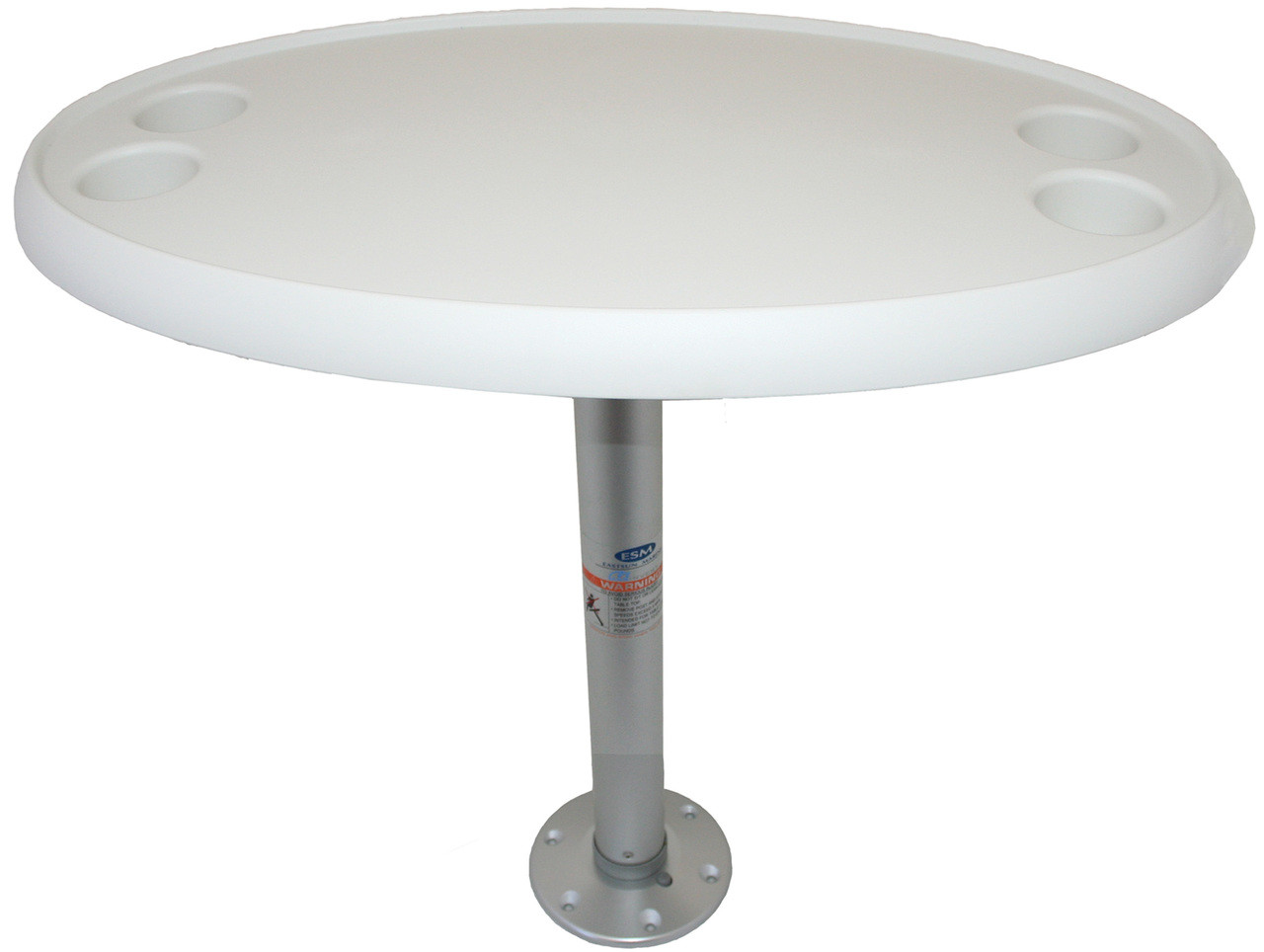 Oval Table with Fixed Pedestal