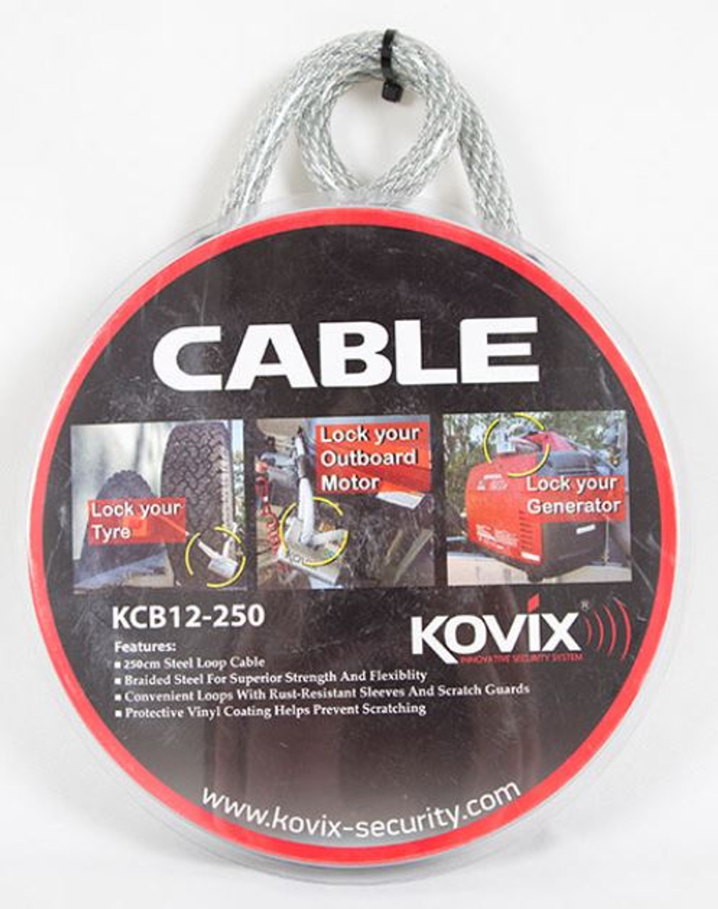 Kovix Locks are best used with Kovix Security Cable. *Cable not included.