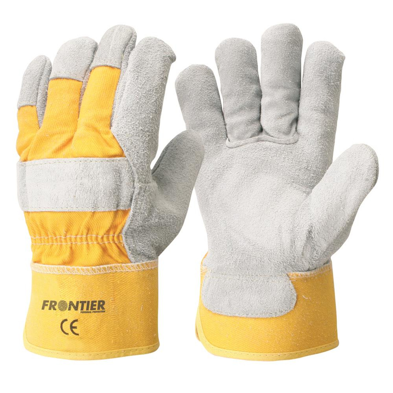 Gloves - Leather - Yellow