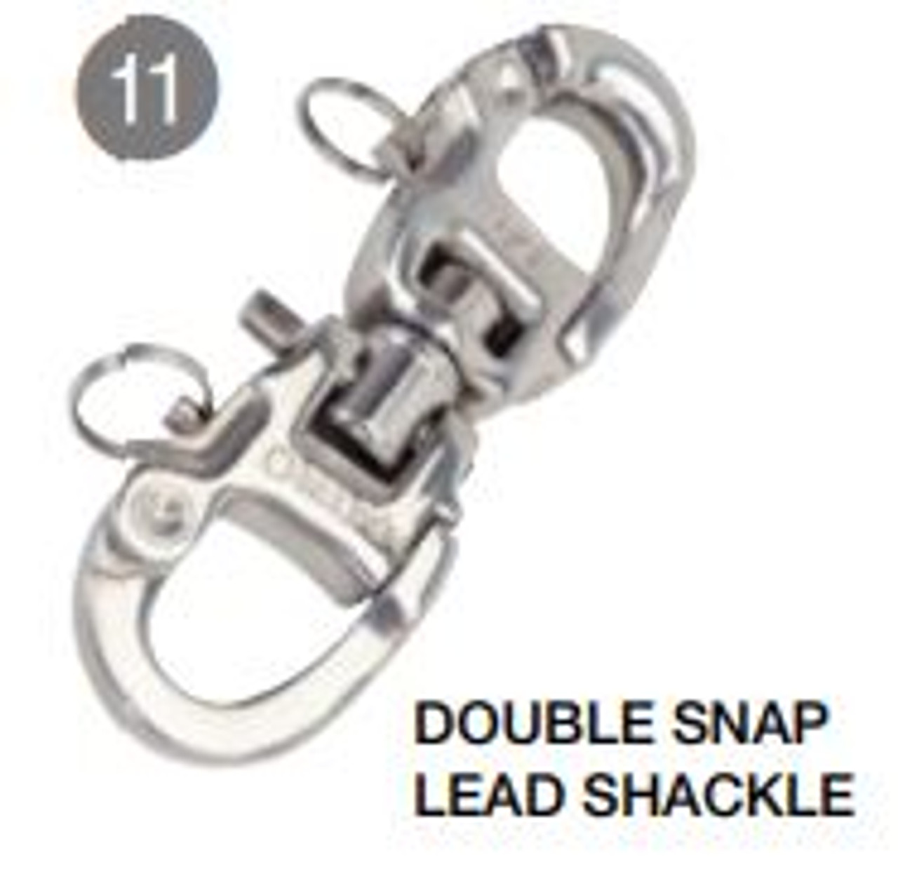 Selden - Double Snap/Lead Shackle 60mm