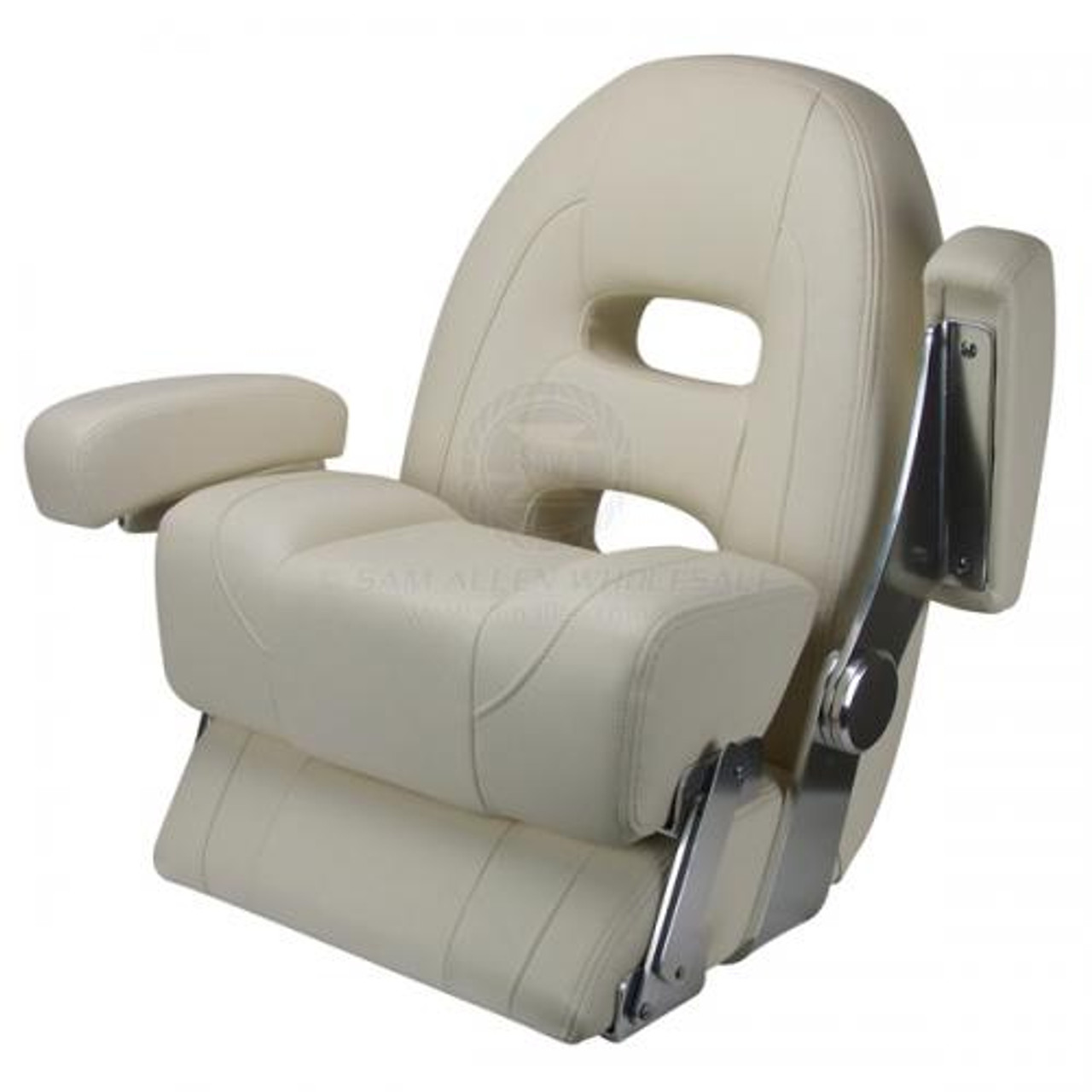 Adjustable arm rests and thigh support