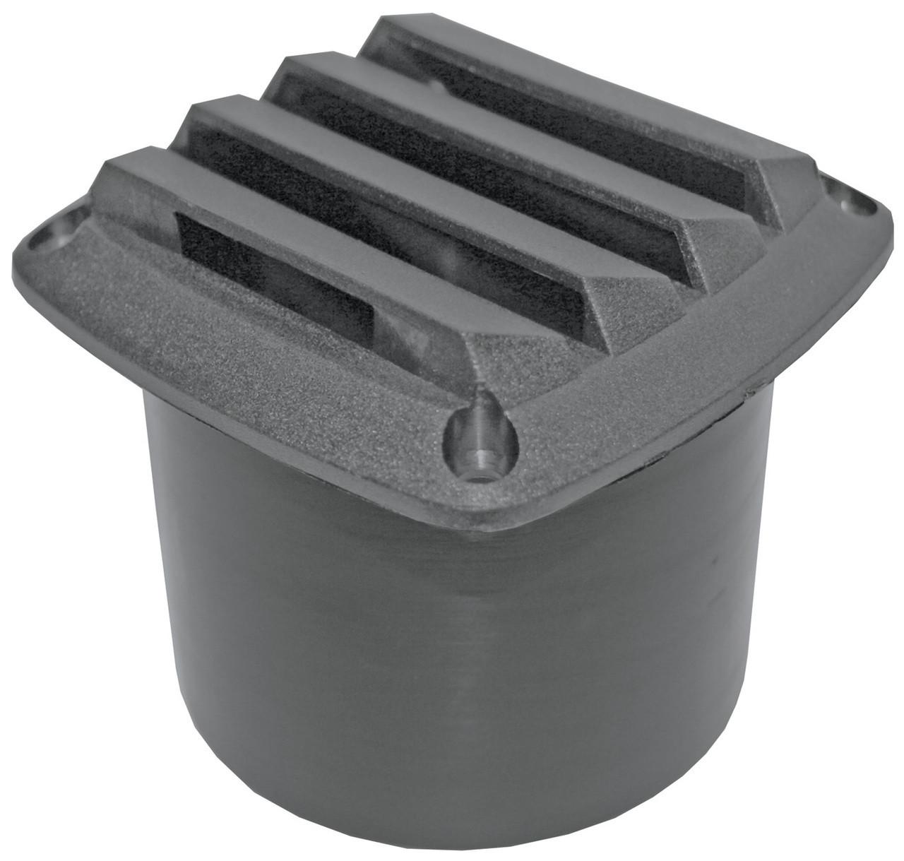 Vent -Black Nyl 75mm Hose