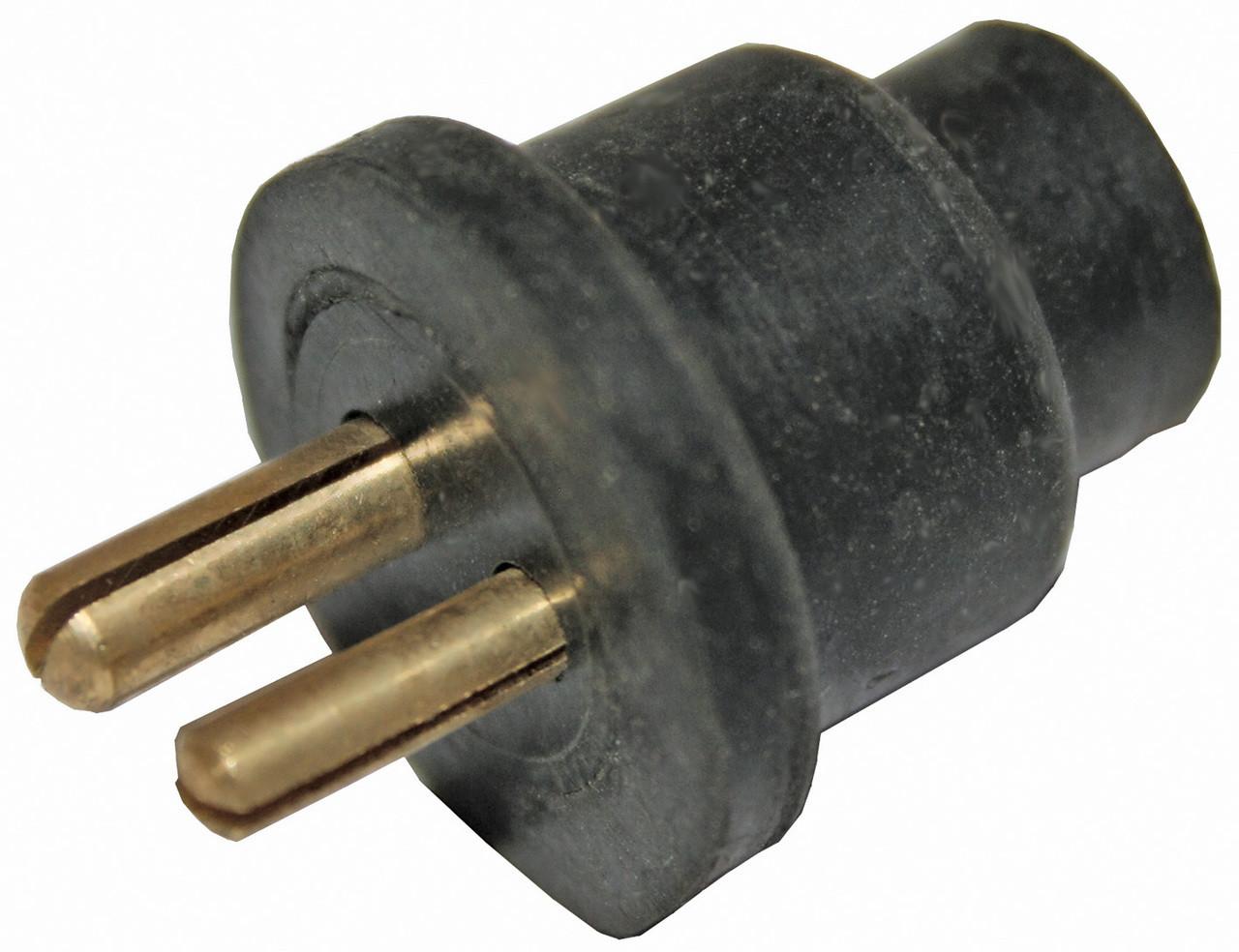 Elec 2 Pin Plug Only Rubb