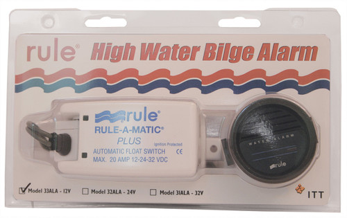 Bilge Pump Rule 'High Water' Alarm Kit 24v