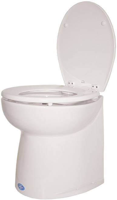 Toilet - Jabsco Silent Flush Vertical Back 24v Salt Water