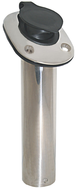 Rod Holder - Stainless Steel with Cap
