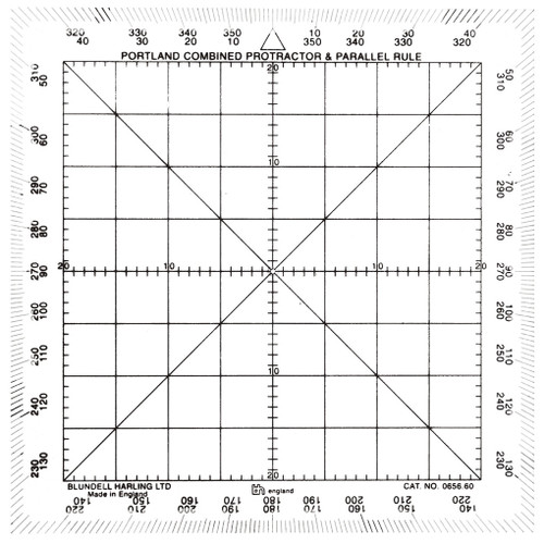 Square Protracter 125mm