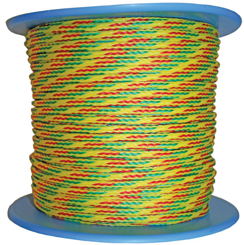 Ski Rope - Fluro Yellow with Ref and Green Fleck 7.5mm x 1m