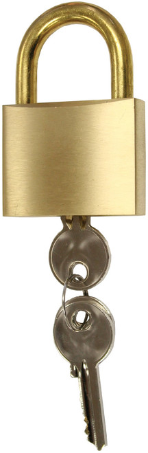 Padlock - Brass Body with Brass Shackle 50mm