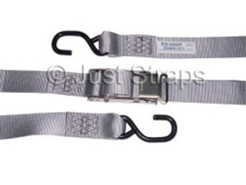 Tie Down Straps with Coated 'S' Hooks 44mm x 5.5m