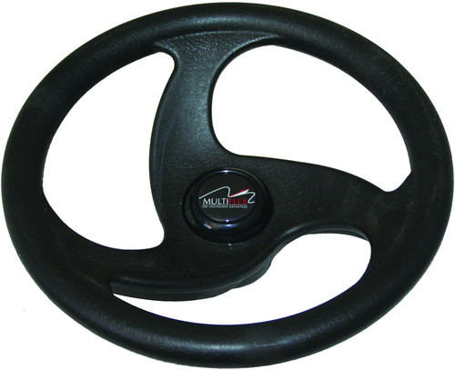 Multiflex Sports Wheel - ÔÇ£SigmaÔÇØ 3 Spoke - Black