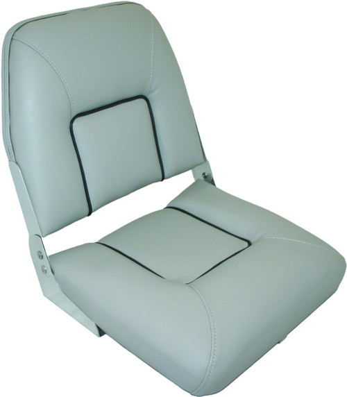 Folding Upholstered Seat - Grey