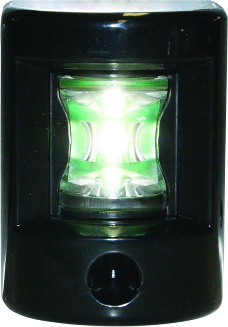 'FOS 12' LEDStern Light - Black Vertical mount