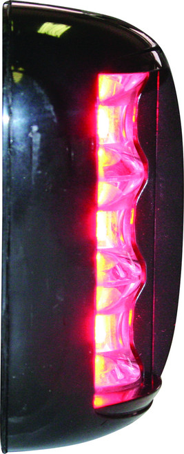 'FOS 20' LED Port & Starboard Light - Black Vertical Mount