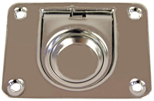 Flush Pull Stainless Steel Anti-Rattle with Spring 76mm x 57mm