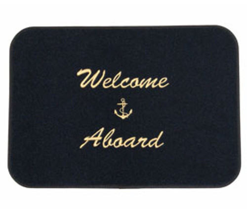 Welcome Aboard Mat - Black/Gold