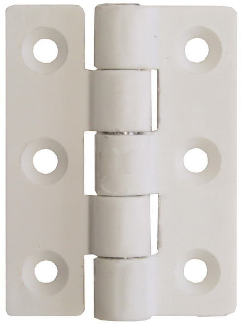 Nylon Butt Hinge - White 75mm