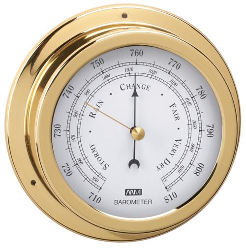 Barometer - 70mm Polished Brass
