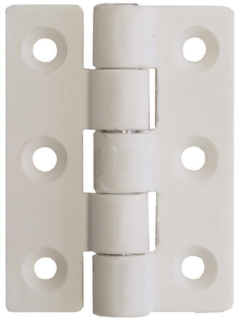 Nylon Butt Hinge - White 45mm
