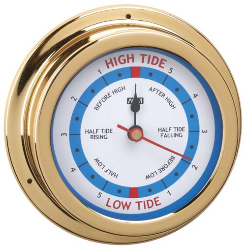 Tide Clock - 120mm Polished Brass