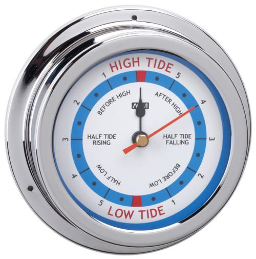 Tide Clock - 120mm Chrome Plated Brass