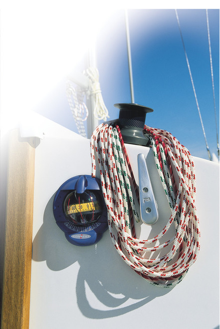 Contest 101 Sailboat Compass White, Red Card for Inclined Bulkheads