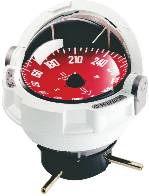 Olympic 135 Sailboat Compass White, Flush Mount, Red Card