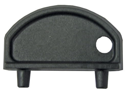 Vented Fuel Deck Fills -  Round Shaped, Angled Black Gasoline