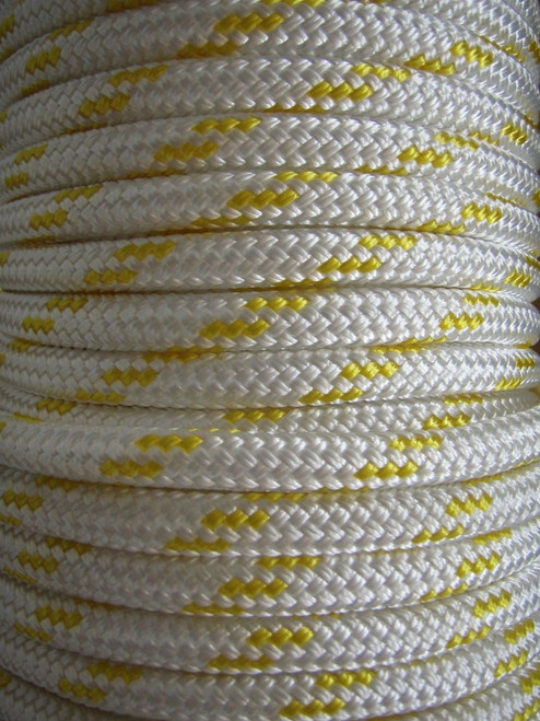 Rope - Double Braid Yellow Fleck 14mm x 1metre
