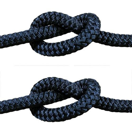 Rope - Double Braid Black 12mm x 1metre