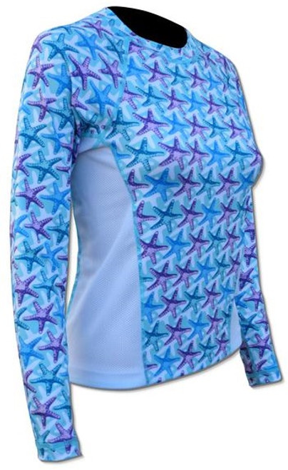 SPF 50 - Ladies Print Top - Starfish