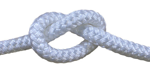Double Braid White 8mm x 1metre