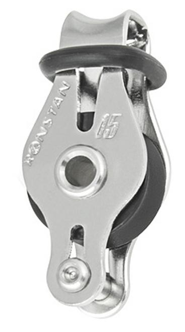 RF15111 Ronstan Series 15 Single Block with Becket & Loop Head