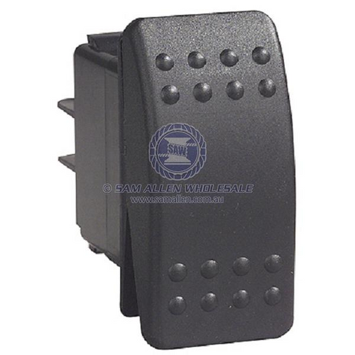 Image Indicative Switch Black On/Off/On Dual Illumination 12V 15Amp Rocker Switch