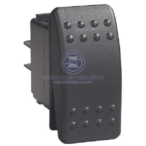 Switch C2 Black 12V 20Amp (On)/Off/(On) Rocker Switch
