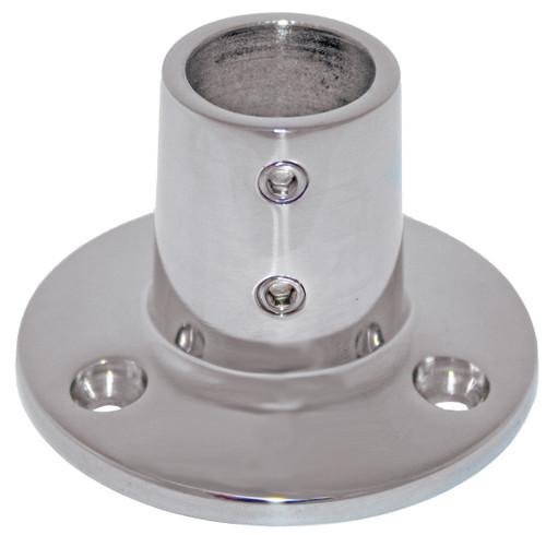 Base - Stainless Steel 90 Degree Round Base 22mm