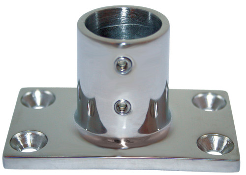 Base - Stainless Steel 90 Degree Rectangle 25mm