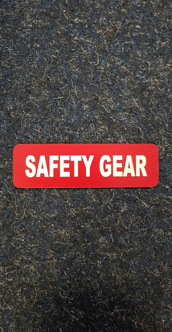 Label 'Safety Gear'