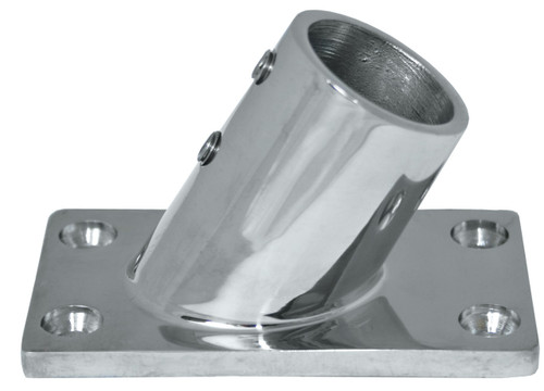 Base - Stainless Steel 60 Degree Rectangle 25mm