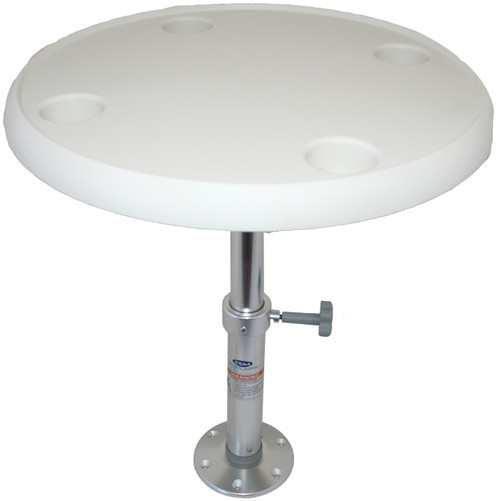 Round Table with Adjustable Pedestal