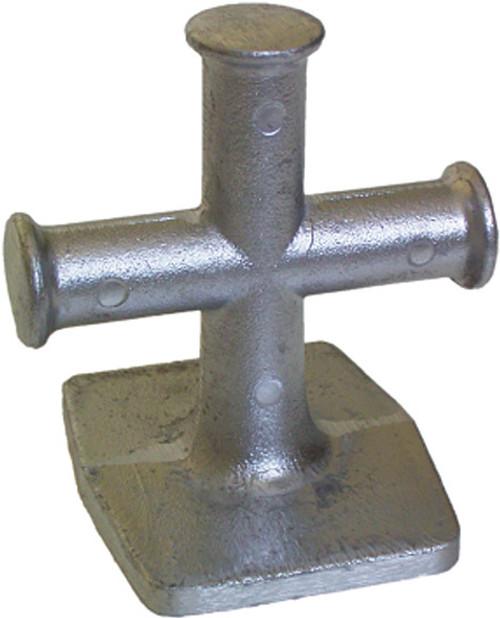 Alloy Cross Bollard 80mm
