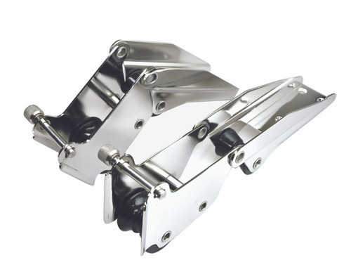 Bow Roller Stainless Steel Hinged 327mm