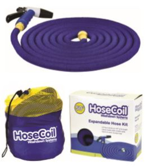 Hosecoil Expandable Hose Kit with Nozzle 50ft